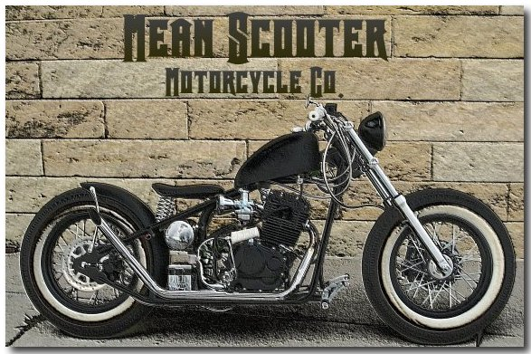 A street legal Kikker 5150 Hardknock Frisco Bobber bike #9