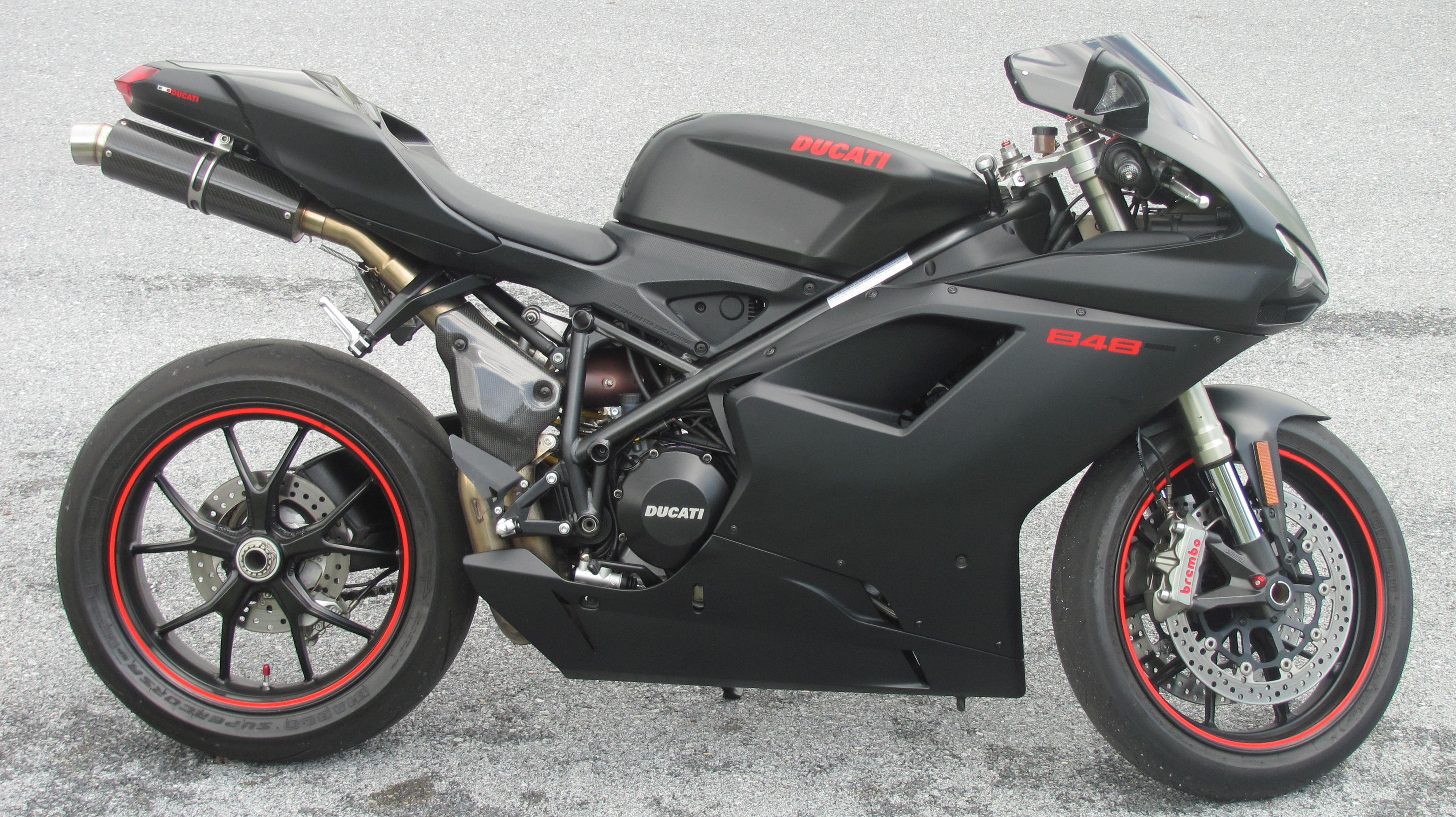 ducati ducati 848 evo dark moto zombdrive com. Black Bedroom Furniture Sets. Home Design Ideas