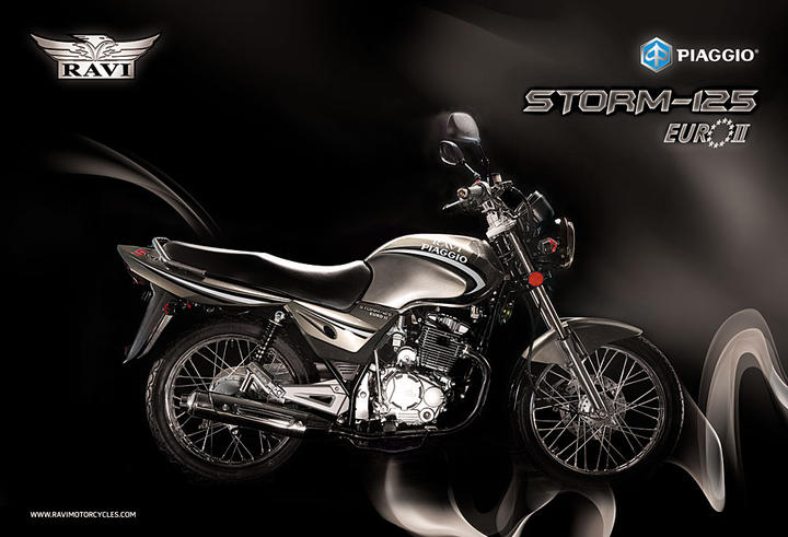 Smart and sporty Ravi Piaggio Storm 125 #8