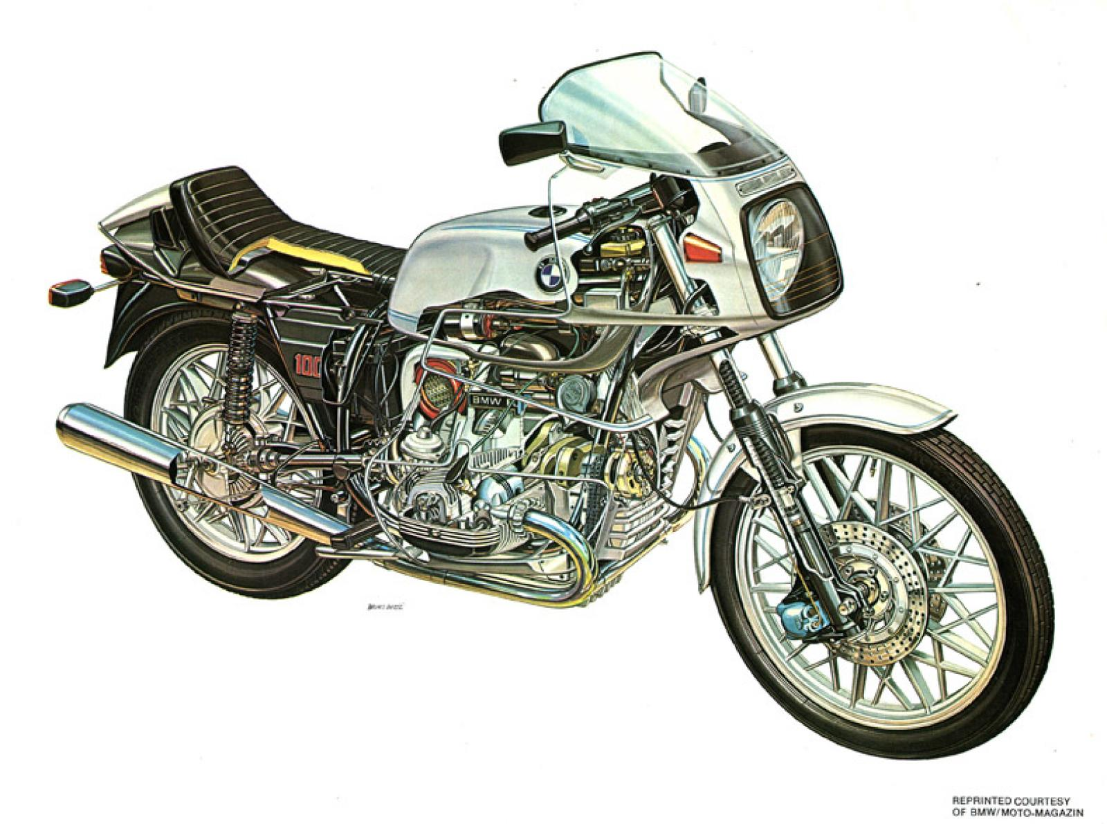 Bmw R Rs on 4 Cylinder Engine Exploded View