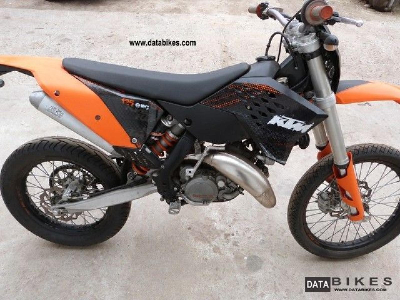 2008 ktm 125 exc moto zombdrive com. Black Bedroom Furniture Sets. Home Design Ideas