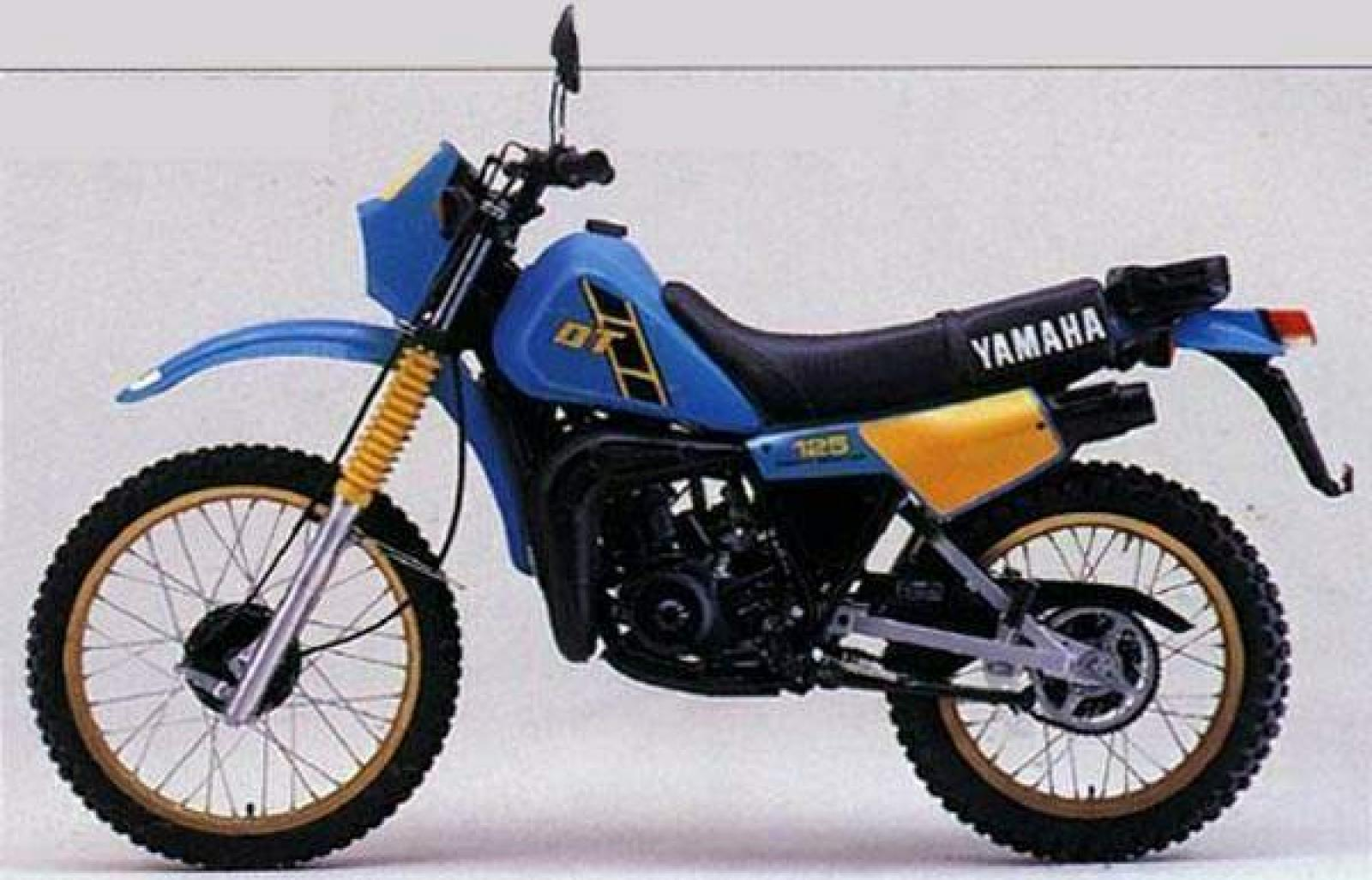 1982 yamaha dt 125 lc moto zombdrive com. Black Bedroom Furniture Sets. Home Design Ideas