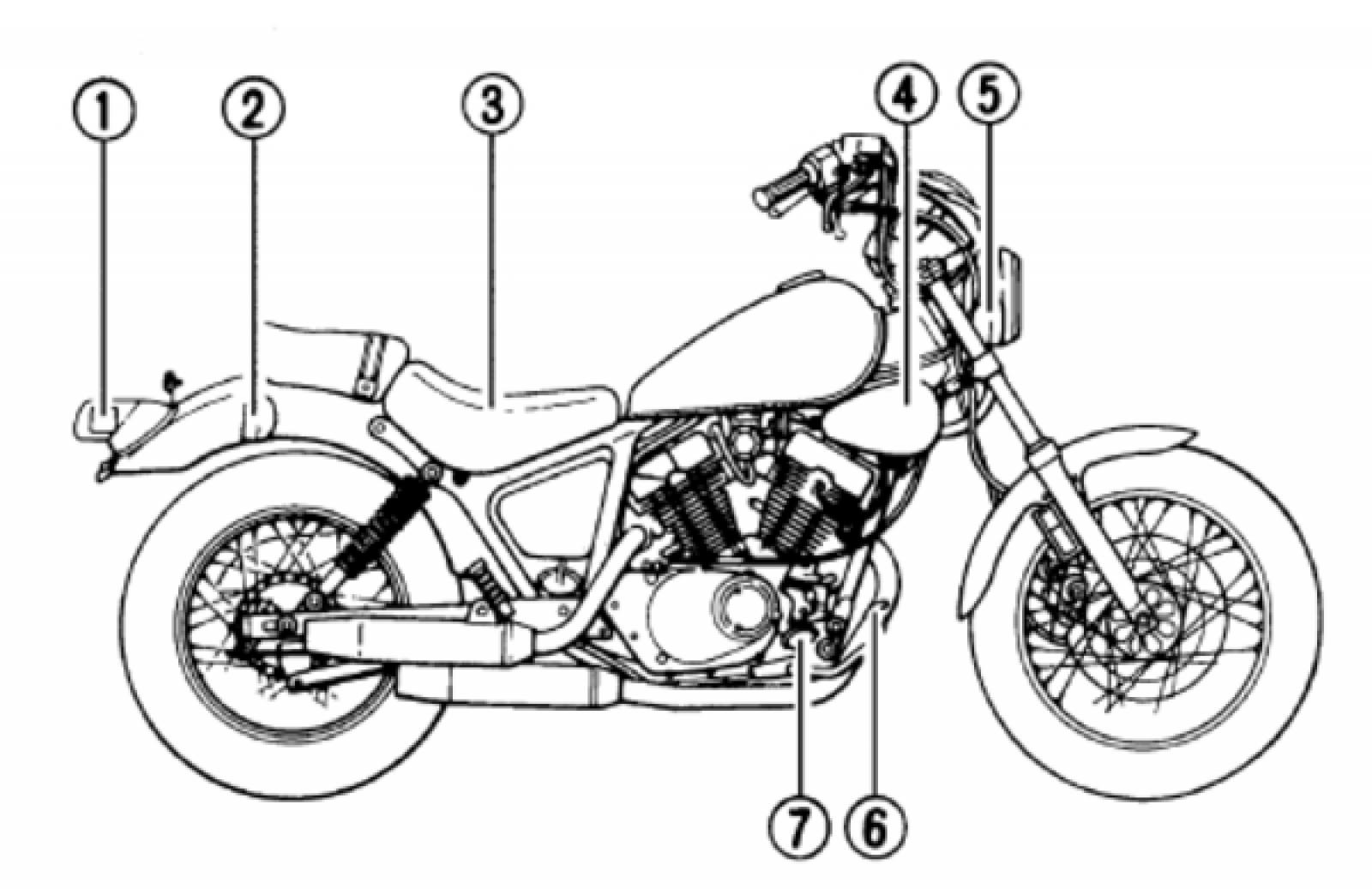 Yamaha Xv250 Virago Wiring Diagram Xv500k Color Schematic 1994 535 The Best