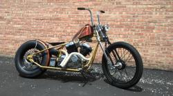 A street legal Kikker 5150 Hardknock Frisco Bobber bike