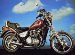 1984 Kawasaki Z450 LTD (reduced effect)