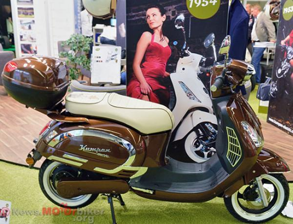 A retro-designed Kumpan 1954 scooter