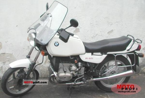 1986 BMW R65 (reduced effect)