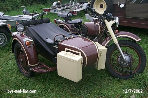 1985 Dnepr MT 12 (with sidecar)