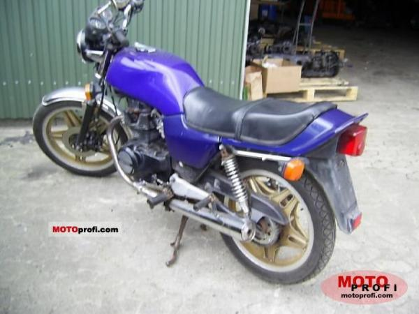 1982 Honda CB400N (reduced effect)