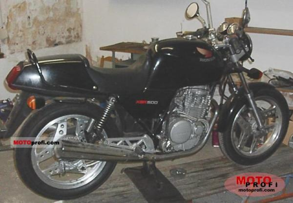 1990 Honda XBR500 (reduced effect)