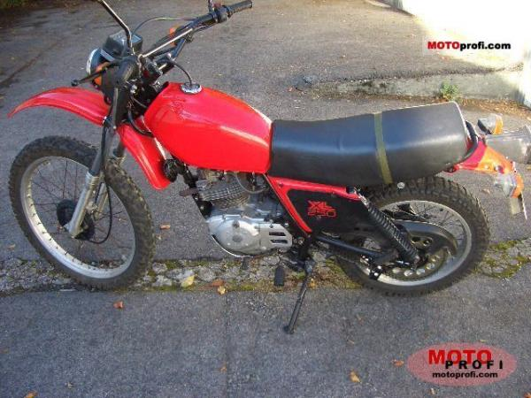 Honda XL250R (reduced effect)