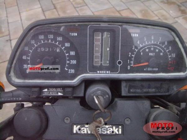 1984 Kawasaki GPZ400 (reduced effect)