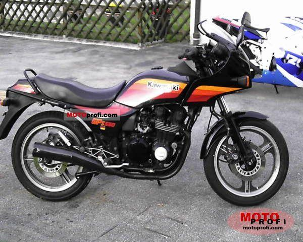 1989 Kawasaki GPZ550 (reduced effect)
