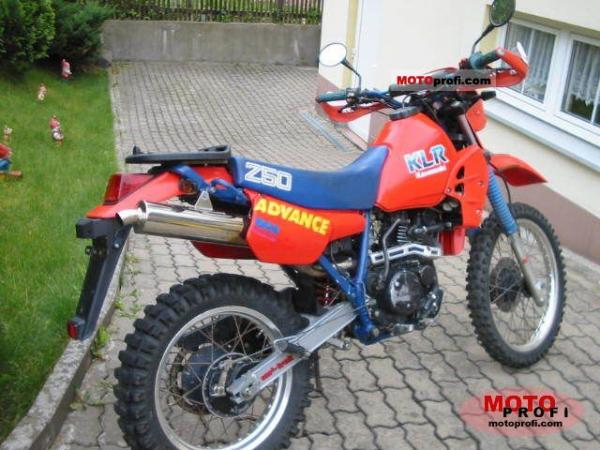 1986 Kawasaki KLR250 (reduced effect)