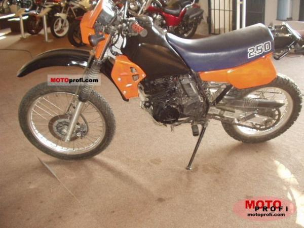 1987 Kawasaki KLR250 (reduced effect)