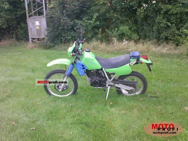 1989 Kawasaki KLR250 (reduced effect)