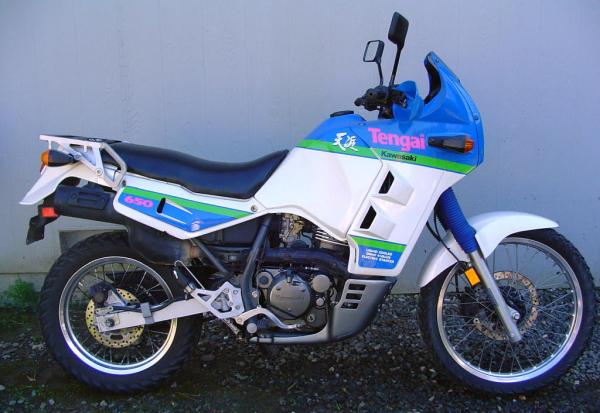 1988 Kawasaki KLR600E (reduced effect)