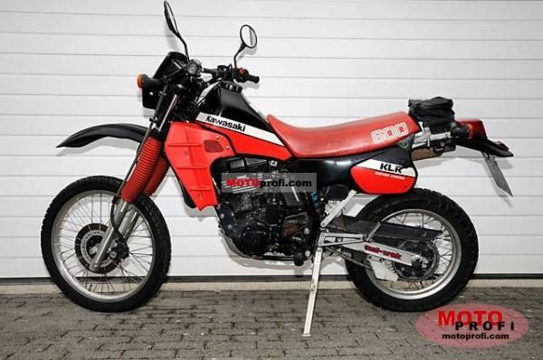 1990 Kawasaki KLR600E (reduced effect)