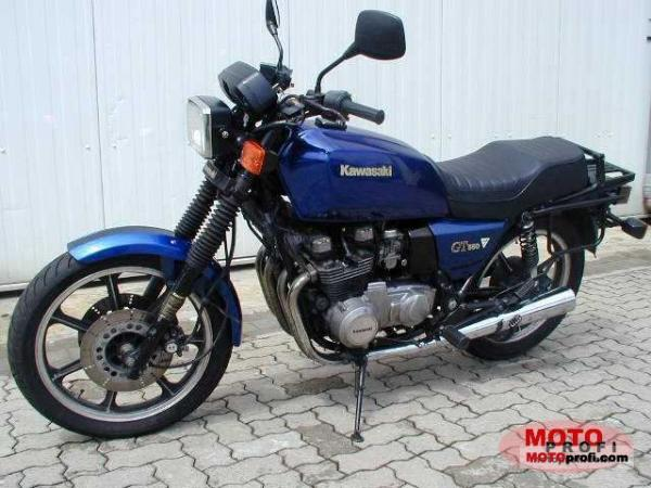 1989 Kawasaki Z550 GT (reduced effect)