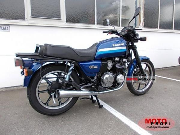1990 Kawasaki Z550 GT (reduced effect)