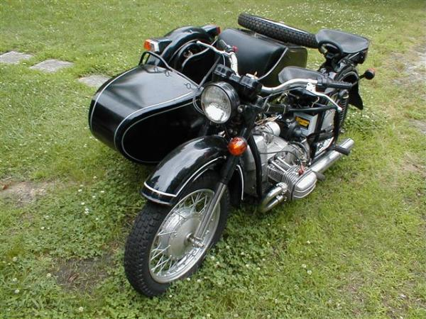 One of the most popular classic bikes of the world, Dnepr MT 10 (with sidecar)