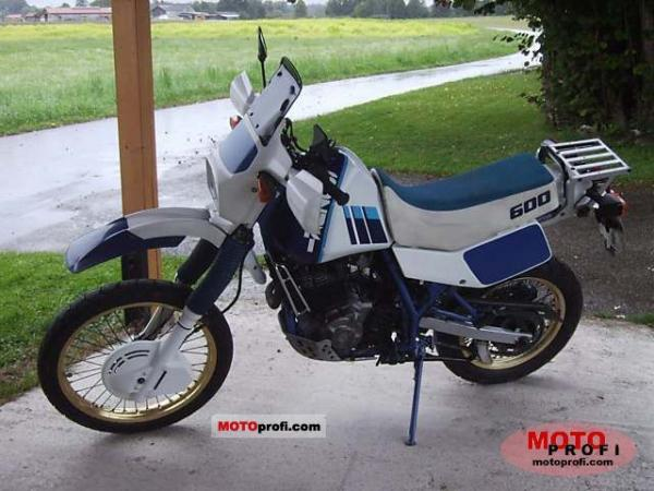 1989 Suzuki DR 600 R Dakar (reduced effect)
