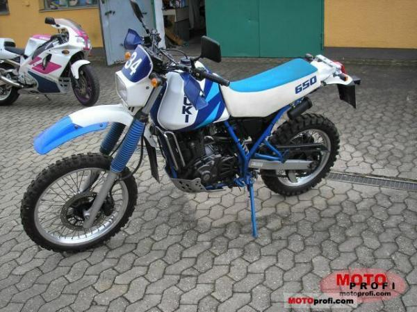 1991 Suzuki DR 650 R Dakar (reduced effect)