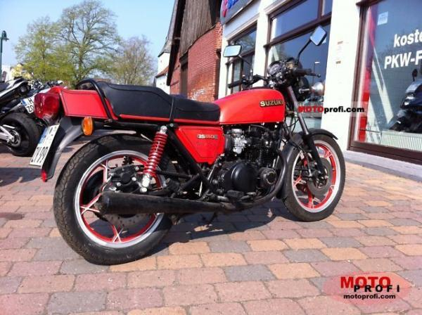 1981 Suzuki GS 550 E Red Suzi