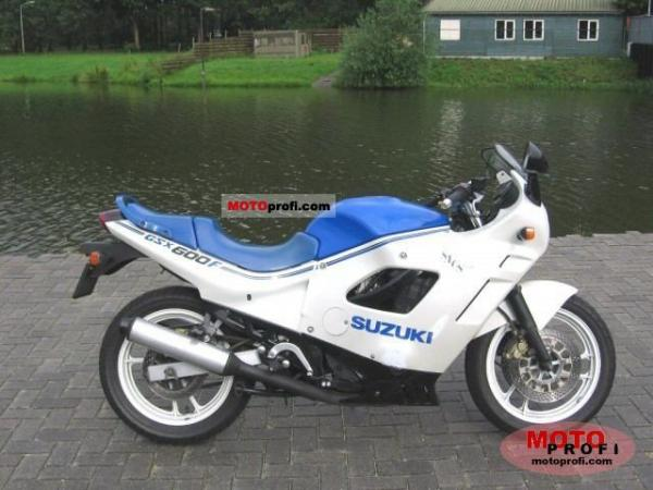 1989 Suzuki GSX 600 F (reduced effect)