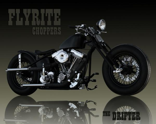 The old-school custom Flyrite Choppers Bobber draws all the eyes!