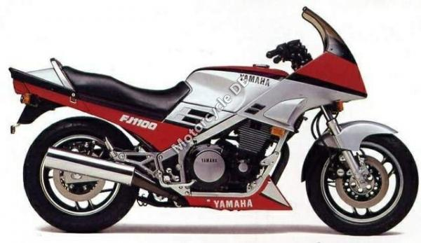 1988 Yamaha FJ 1200 (reduced effect)