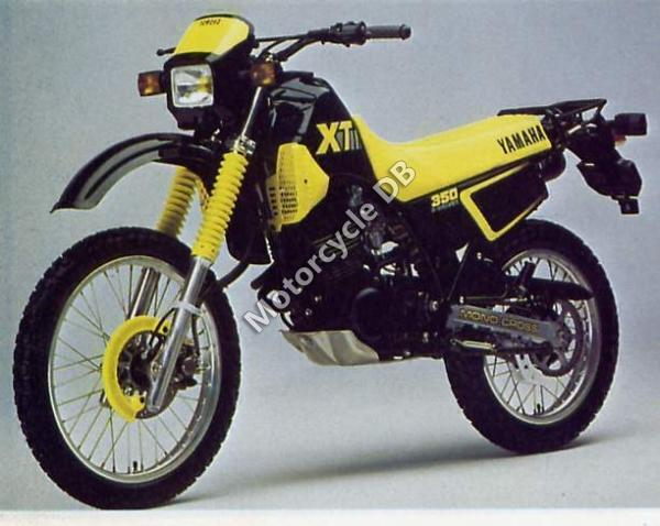 1989 Yamaha XT 350 (reduced effect)